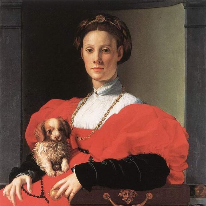 Lady-with-a-Puppy-gift-for-woman